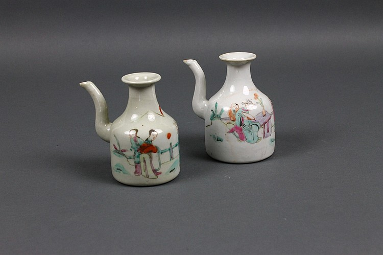 Two Chinese Porcelain Teapots