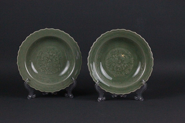 Pr, Chinese Ming Dynasty Celadon Dishes