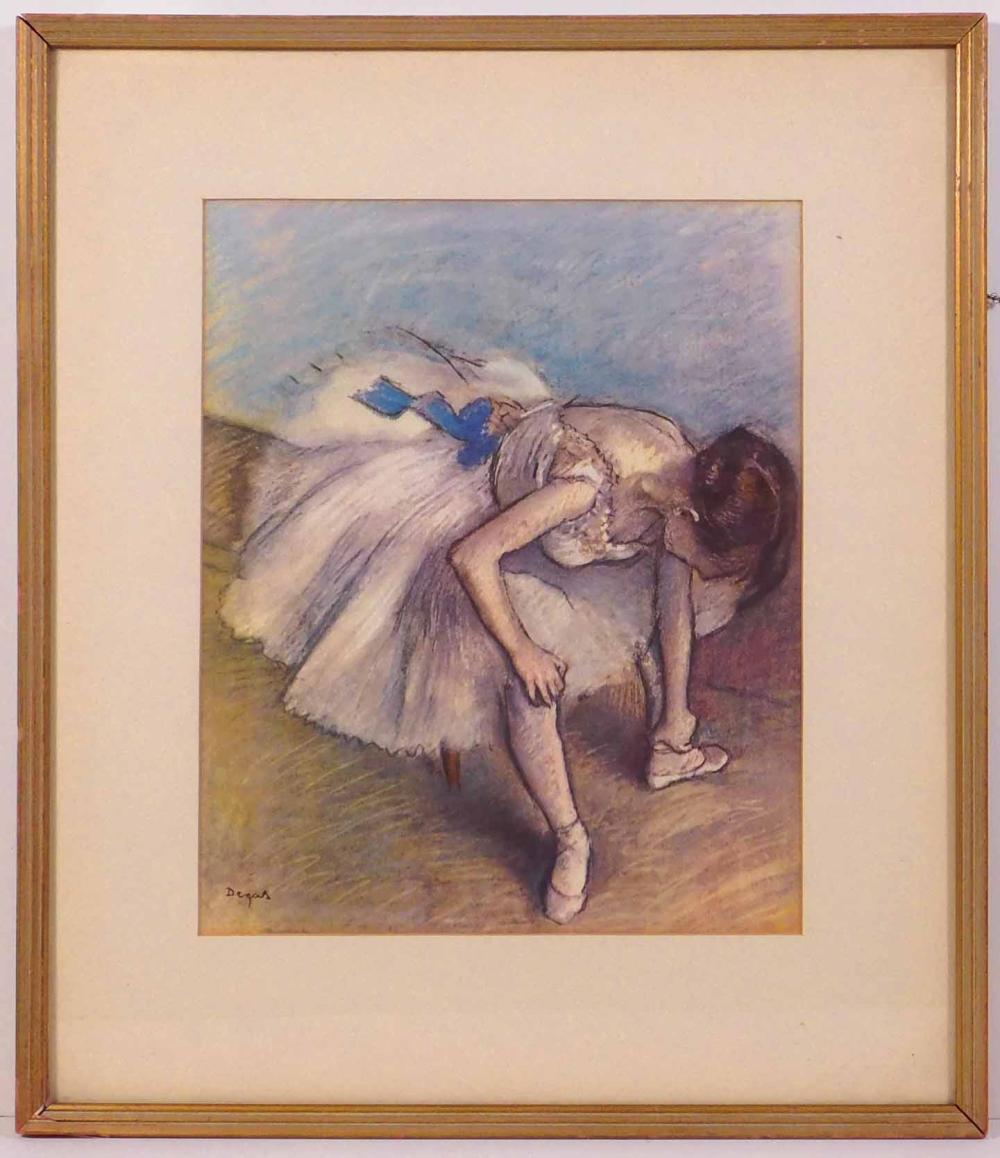 Edgar Degas: Dancer Tying Her Shoes