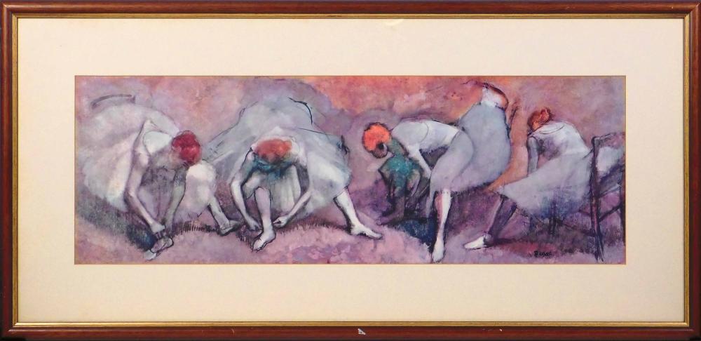 Edgar Degas: Dancers Tying Shoes
