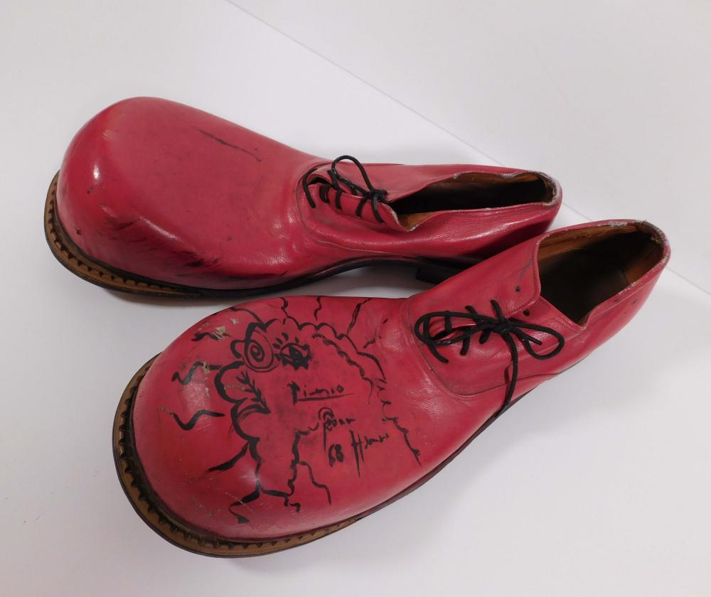 Pablo Picasso, Attributed/ Manner of: Autographed Clown Shoes