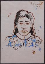 Paul Gauguin, Manner of: Tahitienne