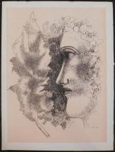 Fernand Leger: Tete et Feuille, Print