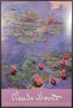 Claude Monet (French, 1840-1926): Water Lilies Poster