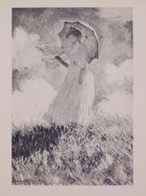 Claude Monet : Jeune Fille a l'Ombrelle (Girl with the Umbrella)