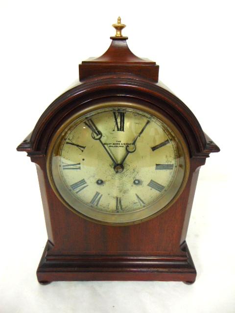 Antique Bailey Banks Biddle Walnut Mantle Clock