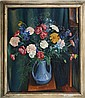 EARL T DONELSON STILL LIFE FLOWERS OIL ON CANVAS