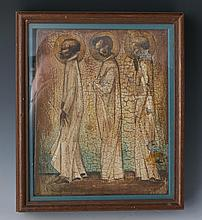 RELIGIOUS ICON THREE SAINTS