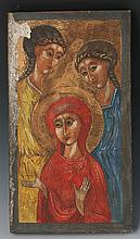 RELIGIOUS ICON MARY WITH TWO SAINTS