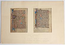 ILLUMINATED MANUSCRIPT BOOK OF HOURS ON VELLUM