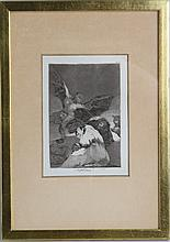 FRANCISCO GOYA SOPLONES ORIGINAL ETCHING