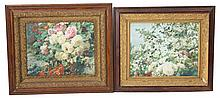 (2) FLORAL PRINTS IN 19TH C GILT WOOD FRAMES