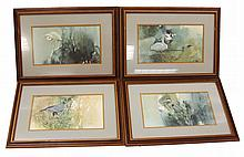 (4) MORTEN SOLBERG FRESH WATER MARSH BIRDS SIGNED
