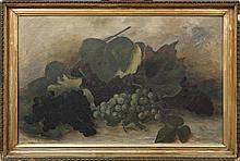 IDA JOLLY CRAWLEY GRAPE STILL LIFE OIL ON CANVAS