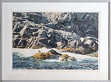 HELEN RUNDELL SEA LEDGE SIGNED LIMITED ED LITHO