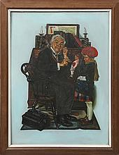 AC CAGUIOT AFTER NORMAN ROCKWELL DOCTOR AND DOLL