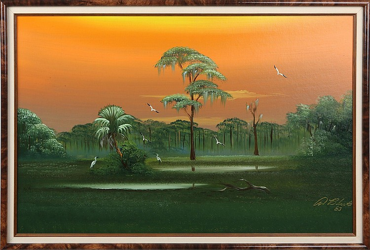 AL BLACK FLORIDA HIGHWAYMEN WETLAND LANDSCAPE