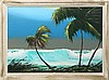 AL HAIR FLORIDA HIGHWAYMEN SEASCAPE OIL ON BOARD, Alfred Hair, Click for value