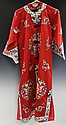 CHINESE LADIES EMBROIDERED SILK BLEND ROBE