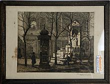 THOMAS RAPHAEL CONGDON ETCHING 1910