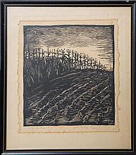 WHARTON ESHERICK SEPTEMBER CORN WOODBLOCK 1922