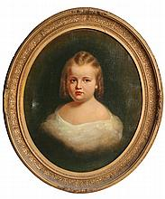 19TH CENTURY AMERICAN SCHOOL PORTRAIT OF A CHILD