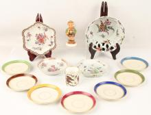 13 ASSORTED PORCELAIN PIECES WITH FIGURINE & MORE