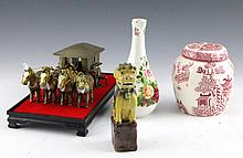 (4) MIXED CHINESE COLLECTIBLES PORCELAIN & MORE