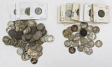 (75) NO DATE (40) WITH DATE 5 CENT BUFFALO NICKELS