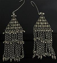 PAIR OF ANTIQUE BEDOUIN SILVER EARRINGS