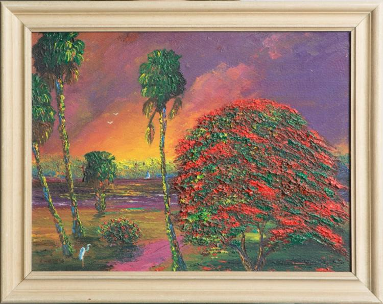 CHICO WHEELER FLORIDA HIGHWAYMEN OIL ON BOARD