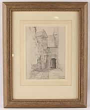 ELEANOR FORTESCUE-BRICKDALE PENCIL DRAWING FRAMED