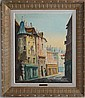 A. FRANCHET VIEW OF PARIS 1930'S OIL ON CANVAS
