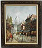 AFTER HENRI ROYER PARISIAN STREET SCENE PAINTING