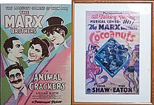 (2) MARX BROTHER MOVIE POSTERS