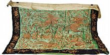 EMBROIDERED ASIAN FLAG 18TH / 19TH CENTURY