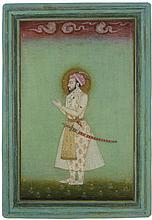 MUGHAL SCHOOL MINIATURE PAINTING SOLDIER