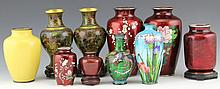 (10) CHINESE CLOISONNE VASES