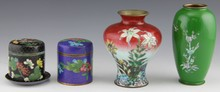 (4) CHINESE CLOISONNE JARS AND VASES