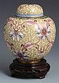SMALL CHINESE CLOISONNE URN