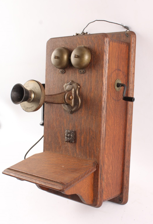Wooden Wall Boxes : American electric wooden wall box telephone