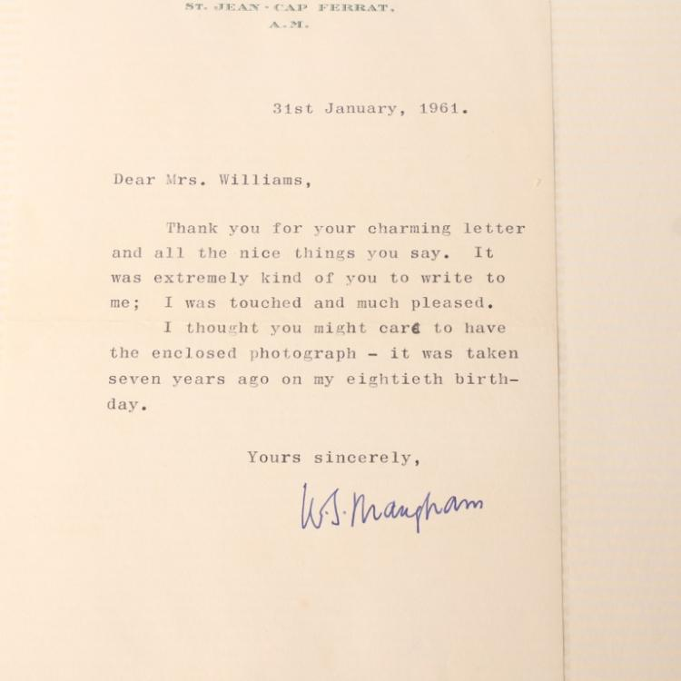 the letter by maugham Contains manuscripts and correspondence by the english novelist, playwright, and short story author w somerset maugham works include his early novel, the merry-go-round (1904), and other seminal works such as cakes and ale (1930) and the moon and sixpence (1919) maugham's letters to barbara back, reginald golding bright, paul dottin, charles.