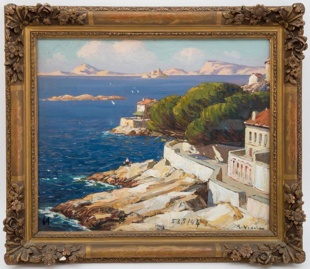 Image Bord De Mer gustave vidal (1895-1966) - bord de mer méditerranée