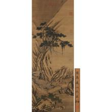 A CHINESE PAINTING OF FIGURE AND LANDSCAPE
