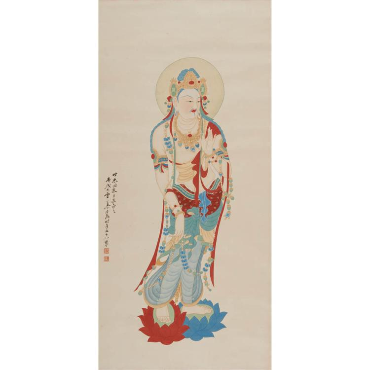 A Chinese Painting Of Buddha