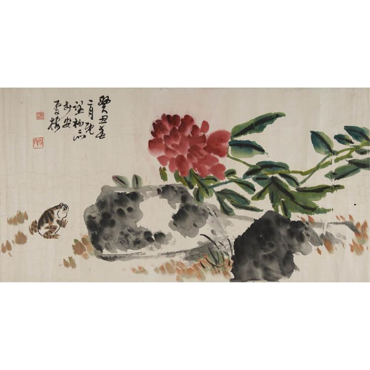 A Chinese Painting Of Blossoming Flowers