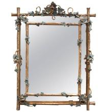 Napoleon III Cushion Style Gilt Mirror