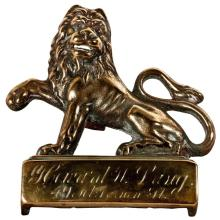 English Lion Door Marker