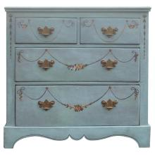 English Faux Painted Chest of Drawers