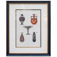 Lithograph of Ancient Greek Bottle Forms